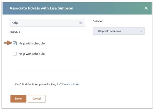 Associate Ticket