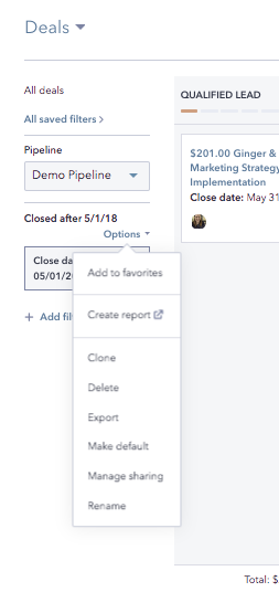 How to create a custom view of your Deals Board in HubSpot